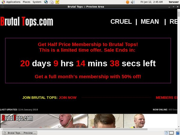 Brutal Tops Trial Coupon