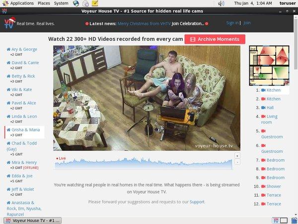 Trial Voyeur House TV Account
